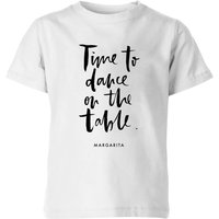 PlanetA444 Time To Dance On The Tables Kids' T-Shirt - White - 11-12 Years - White - Dance Gifts