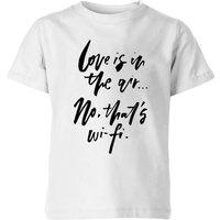 PlanetA444 Love Is In The Air Kids' T-Shirt - White - 5-6 Years - White