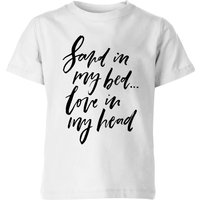 PlanetA444 Sand In My Bed, Love In My Head Kids' T-Shirt - White - 9-10 Years - White