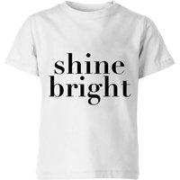 PlanetA444 Shine Bright Kids' T-Shirt - White - 11-12 Years - White
