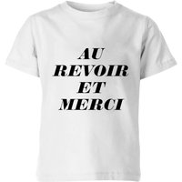 PlanetA444 Au Revoir Et Merci Kids' T-Shirt - White - 11-12 Years - White