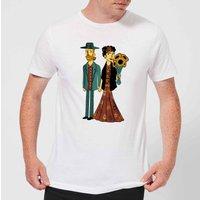 Tobias Fonseca Love Is Art - Frida Kahlo and Van Gogh Men's T-Shirt - White - XXL - White