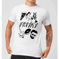 Rock On Ruby Friyay Mens T-Shirt - White - XXL - White