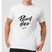 PlanetA444 Phones Down Men's T-Shirt - White - S - White