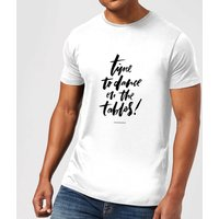 PlanetA444 Time To Dance On The Tables Men's T-Shirt - White - XXL - White - Clothes Gifts