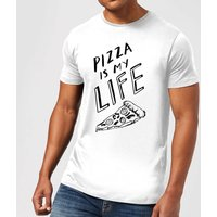 Rock On Ruby Pizza Is My Life Men's T-Shirt - White - XXL - White