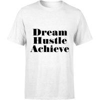 PlanetA444 Dream Hustle Achieve Mens T-Shirt - White - L - White