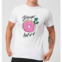 PlanetA444 Dessert Island Men's T-Shirt - White - S - White