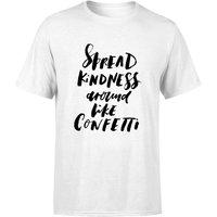 PlanetA444 Spread Kindness Around Like Confetti Men's T-Shirt - White - XL - White