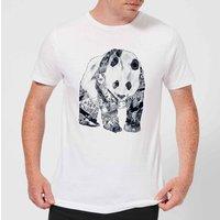 Tobias Fonseca Tattooed Panda Mens T-Shirt - White - S - White