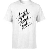 PlanetA444 Hustle Hard Girl Mens T-Shirt - White - M - White