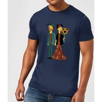 Tobias Fonseca Love Is Art - Frida Kahlo and Van Gogh Men's T-Shirt - Navy - XS - Navy
