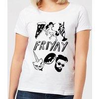 Friyay Women's T-Shirt - White - 5XL - White