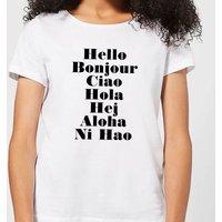 Hello Women's T-Shirt - White - 4XL - White