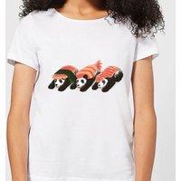 Panda Sushi Women's T-Shirt - White - 4XL - White
