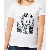Tattooed Panda Women's T-Shirt - White - XXL - White