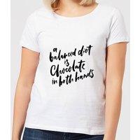 A Balanced Diet Women's T-Shirt - White - 5XL - White