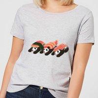 Panda Sushi Women's T-Shirt - Grey - 5XL - Grey