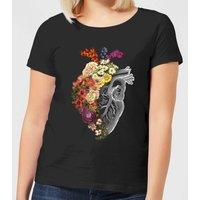 Flower Heart Spring Women's T-Shirt - Black - 4XL - Black