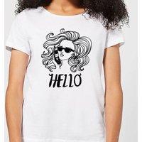 Hello Women's T-Shirt - White - XL - White