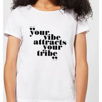 Your Vibe Attracts Your Tribe Women's T-Shirt - White - L - White