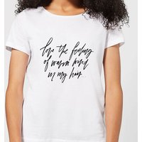 The Feeling Of Warm Wind In My Hair Women's T-Shirt - White - L - White