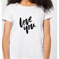 Love You Women's T-Shirt - White - 3XL - White