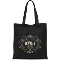 Hoppy New Beer Tote Bag - Black - Beer Gifts
