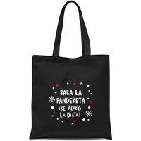 Saca La Pandereta Tote Bag - Black