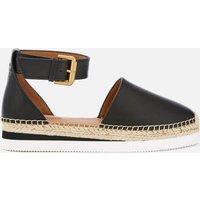 See By Chloe Women's Glyn Leather Espadrille Flat Sandals - Black - EU 36/UK 3 - Black