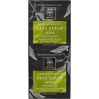 APIVITA Express Face Scrub for Deep Exfoliation - Olive 2x8ml