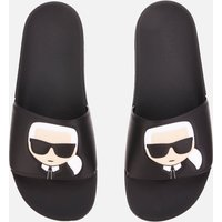 KARL LAGERFELD Men's Kondo Karl Ikonik Slide Sandals - Black - UK 11