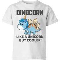 Big and Beautiful Dinocorn Kids' T-Shirt - White - 11-12 Years - White