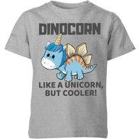 Big and Beautiful Dinocorn Kids' T-Shirt - Grey - 5-6 Years - Grey