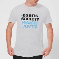 Big and Beautiful Do Bits Managing Director Men's T-Shirt - Grey - L - Grey