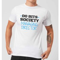 Big and Beautiful Do Bits Managing Director Men's T-Shirt - White - XL - White