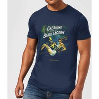 Universal Monsters Creature From The Black Lagoon Vintage Poster Men's T-Shirt - Navy - XS - Navy