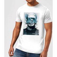 Universal Monsters Frankenstein Glitch Mens T-Shirt - White - 5XL - White