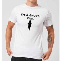 I'm A Ghost, Duh. Men's T-Shirt - White - XXL - White