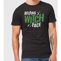 Resting Witch Face Mens T-Shirt - Black - XL - Black