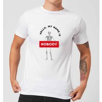 Hello, My Name Is Nobody Men's T-Shirt - White - M - White