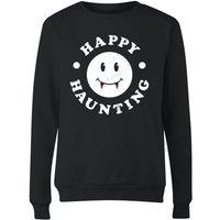 Happy Haunting Women's Sweatshirt - Black - S - Black