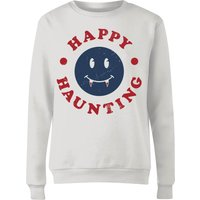 Happy Haunting Fang Women's Sweatshirt - White - XL - White