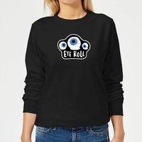 Eye Roll Women's Sweatshirt - Black - XS - Black