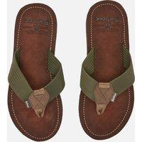 Barbour Men's Toeman Beach Toe Post Sandals - Olive - UK 10