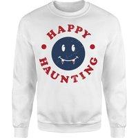Happy Haunting Fang Sweatshirt - White - M - White