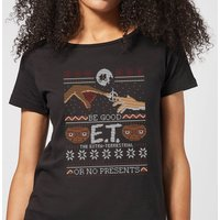E.T. the Extra-Terrestrial Be Good or No Presents Women's T-Shirt - Black - XL - Black
