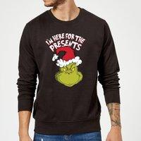 The Grinch Im Here for The Presents Christmas Sweatshirt - Black - XXL - Black