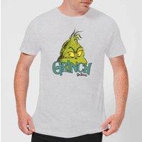 The Grinch Face Men's Christmas T-Shirt - Grey - XXL - Grey