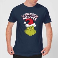 The Grinch Im Here for The Presents Men's Christmas T-Shirt - Navy - S - Navy